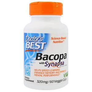 Bacopa (Bacopa With Synapsa), Doctor's Best, 320 мг, 60 капсул