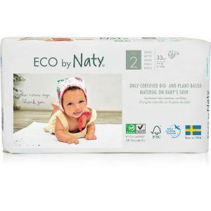 """Органические подгузники """"ECO BY NATY"""", Diapers 2 Mini, Eco by Naty, размер 2 Mini, 3-6 кг, 33 шт"""