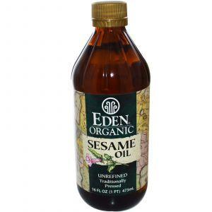 Кунжутное масло, Eden Foods,  473 мл