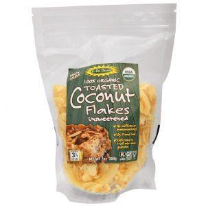 Кокосовая поджаренная  стружка, Toasted Coconut Flakes, Edward & Sons, 200 г