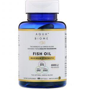 Рыбий жир, максимальная сила, Fish Oil, Maximum Strength, Enzymedica, 60 гелевых капсул