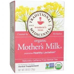 """Органический чай """"Материнское молоко"""", без кофеина, Traditional Medicinals, 28 г"""