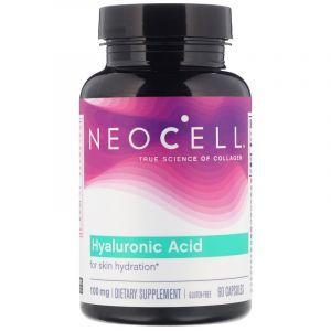 Гиалуроновая кислота, увлажнение, Hyaluronic Acid, Neocell, 60 капсул