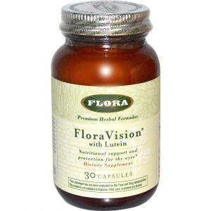 Витамины для глаз с лютеином, Flora, 30 капсул