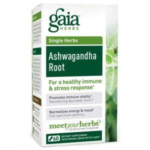 Ашваганда корень, Gaia Herbs, 60 капсул