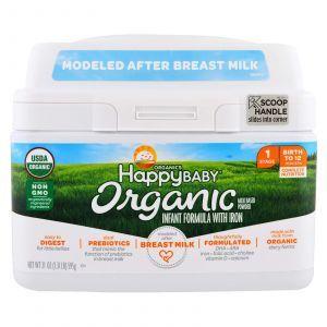 Детская смесь с железом, Infant Formula With Iron, Nurture Inc. (Happy Baby), 0-12 месяцев, 595 г