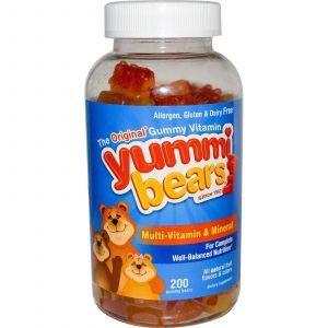 Витамины для детей, Hero Nutritional, минералы, 200шт