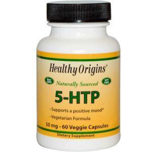 5-гидроксил L-триптофан(5-НТР),Healthy Origins,50мг,60к