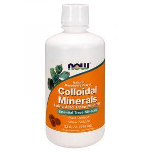 Коллоидные минералы с малиной, Colloidal Minerals, Now Foods, 946 м