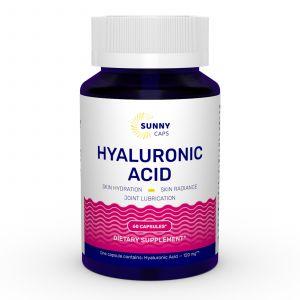 Гиалуроновая кислота, Hyaluronic Acid Powerfull, Sunny Caps, 120 мг, 60 капсул