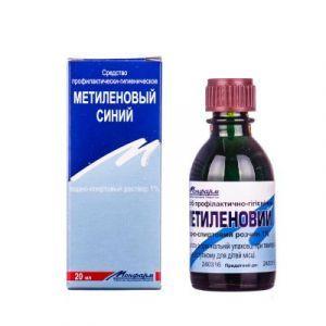 Метиленовый синий водно-спиртовой раствор, Монфарм АО, 1%, 20 мл