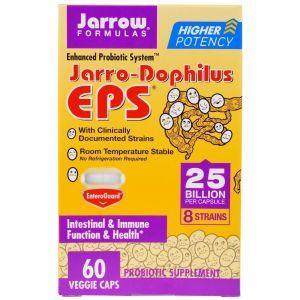 Пробиотики (дофилус), Jarro-Dophilus EPS, Jarrow Formulas, 60 капсул