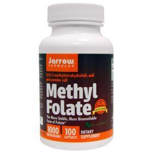 Метил фолиевая кислота, 1000 мг, Jarrow Formulas, 100 кап.