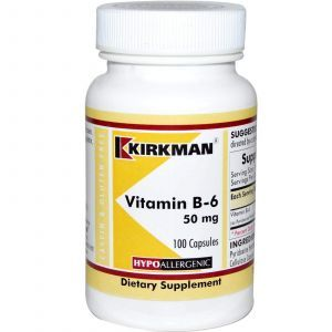 Витамин В6 (пиридоксин), Kirkman Labs, 100 капс.