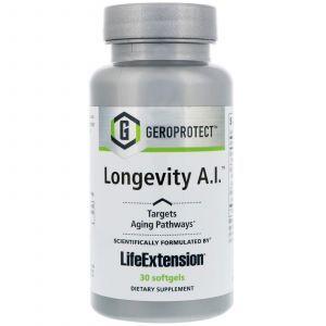 Формула долголетия, Geroprotect, Longevity A.I., Life Extension, 30 капсул