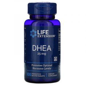Дегидроэпиандростерон, DHEA, Life Extension, 25 мг, 100 таблето