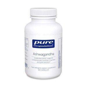 Ашвагандха, Ashwagandha, Pure Encapsulations, 120 капсул