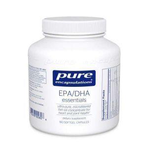 Основные ЭПК/ДГК, EPA/DHA essentials, Pure Encapsulations, 180 капсул