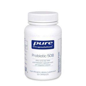 Пробиотик 50B, Probiotic 50B, Pure Encapsulations, для поддержки экологии кишечника и здоровья пищеварительной системы и иммунитета, 60 капсул