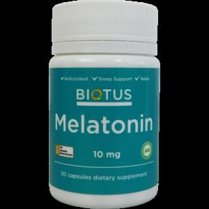 Мелатонин, Melatonin, Biotus, 10 мг, 30 капсул