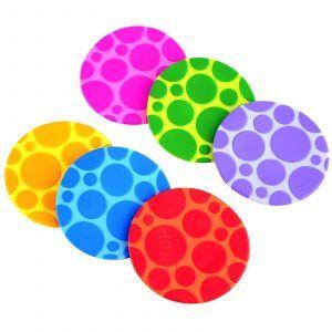 Разноцветные коврики, Grippy Dots, Munchkin, 6 шт