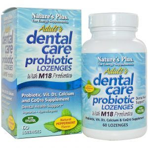 Гигиена полости рта, Adult Dental Care Probiotic with M18, Nature's Plus, 60 леденцов