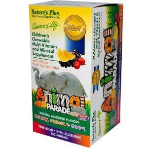 Витамины для детей, Nature's Plus, форма животных, 180шт
