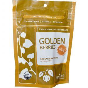 Высушенный физалис, Golden Berries, Navitas Naturals, 227 г.