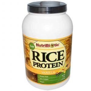 Рисовый протеин, Rohreis-Protein, NutriBiotic, ваниль, 1.36 кг
