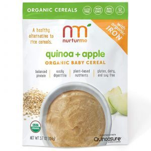 Натуральная детская каша, Quinoa + Apple, NurturMe, 104 г