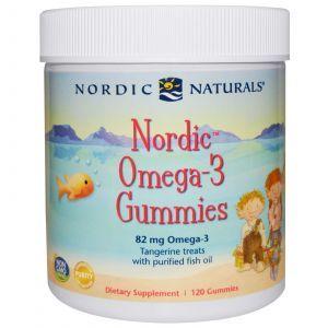 Рыбий жир для детей (мандарин), Nordic Naturals, 120 желе