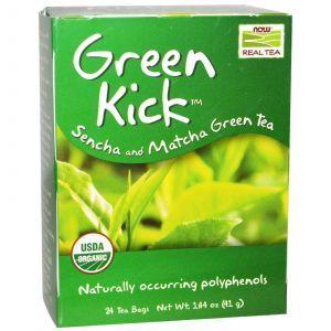 Чай Сенча и Матча, Now Foods, 24 пак.(41 г.)