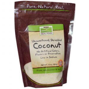 Кокос сушеный, Now Foods, 284 г