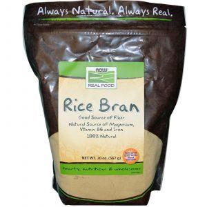 Рисовые отруби, (Rice Bran), Now Foods, 567 г