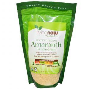 Органическое цельное зерно амаранта, Now Foods, 454 г