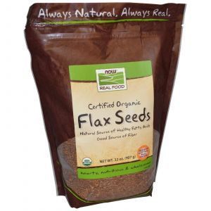 Семена льна (органик), Now Foods, 907 г