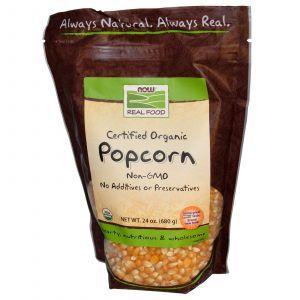 Попкорн (органик), Now Foods, 680 г