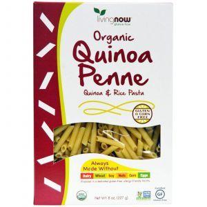 Макароны, лебеда, каное, рис, (Organic Quinoa Penne, Quinoa & Rice Pasta), Now Foods, 227 г