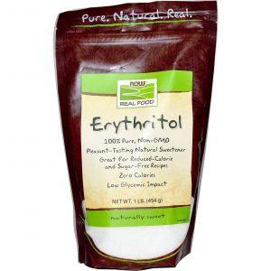 Эритрит (сахарозаменитель), Now Foods, 454 г