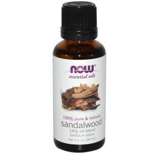 Эфирное масло сандалового дерева, Now Foods, 30 мл