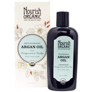 Освежающее аргановое масло, Argan Oil,  Nourish Organic, 101 мл