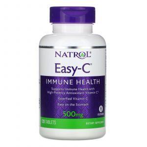 Витамин С, Easy-C, Natrol, 500 мг, 120 таблеток