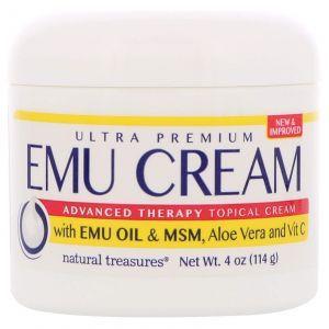 Крем с маслом эму, Emu Cream with Emu Oil & MSM, Natural Treasures, 114 г