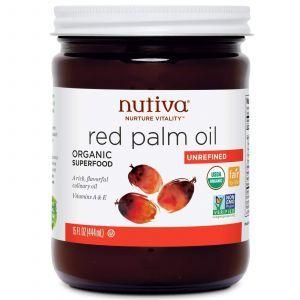 Красное пальмовое масло, Nutiva, 444 мл