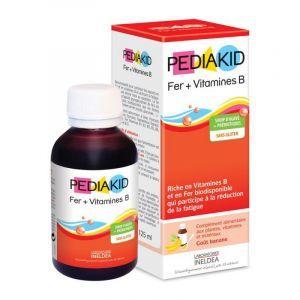 Железо и витамин В, сироп для детей, Iron + Vitamin B, Pediakid, 125 мл