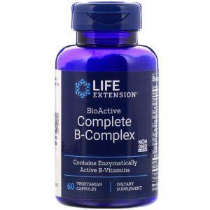 В-комплекс витаминов, Complete B-Complex, Life Extension, 60 капсул