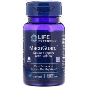 Витамины для глаз, MacuGuard, Life Extension, 60 капсул
