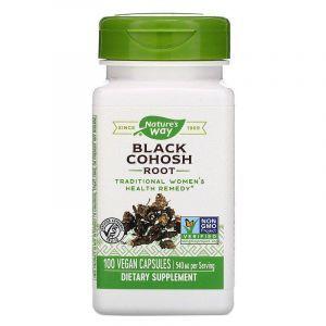 Клопогон (Цимицифуга), Black Cohosh, Nature's Way, корень, 540 мг, 100 капсул