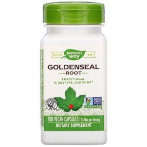 Желтокорень канадский (гидрастис), Goldenseal, Nature's Way, 1140 мг, 100 кап.