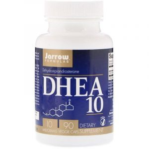 ДГЭА, Дегидроэпиандростерон, DHEA 10, Jarrow Formulas, 10 мг, 90 капсул